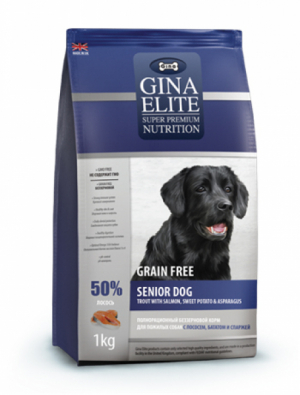 GRAIN FREE SENIOR DOG  с лососем, бататом и спаржей