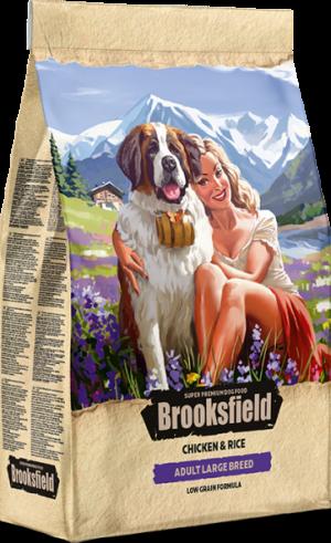Brooksfield Adult Large Breed с курицей и рисом