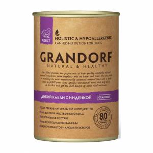 Grandorf Adult All Breeds консервы с диким кабаном и индейкой, 400 гр