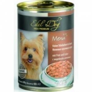 Edel Dog нежные кусочки в соусе Индейка и печень
