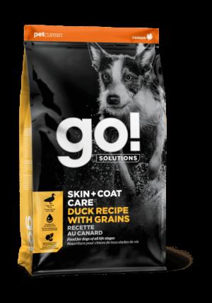 GO! Dog Solutions Skin+Coat Care All Life Stages c уткой и овсянкой