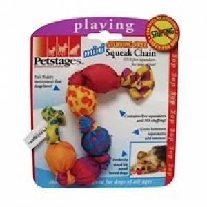 """Petstages игрушка для собак """"Жевательная цепь"""" с пищалками текстиль"""
