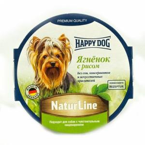 Happy Dog Natur Line паштет из ягненка с рисом