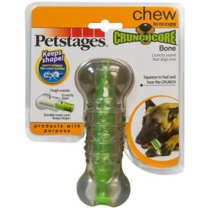 """Petstages игрушка для собак """"Хрустящая косточка"""" резиновая средняя"""