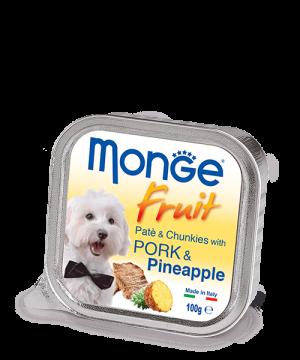 Monge Dog Fruit паштет из свинины с ананасом