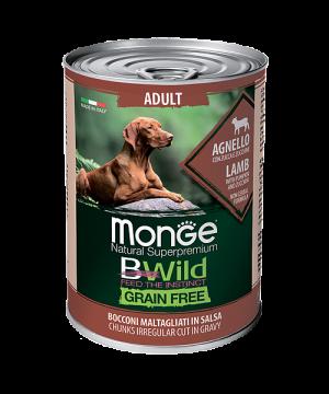 MONGE GRAIN FREE ALL BREEDS ADULT AGNELLO ягненок с тыквой и кабачками для собак всех пород