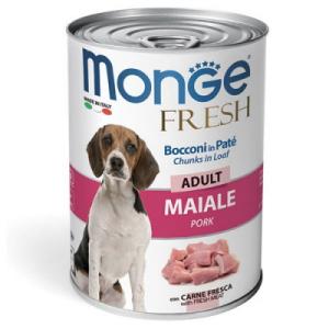 Monge Dog Fresh Chunks in Loaf  мясной рулет свинина 400г