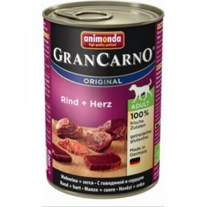 GRAN CARNO ADULT  консервы с говядиной и сердцем для взрослых собак