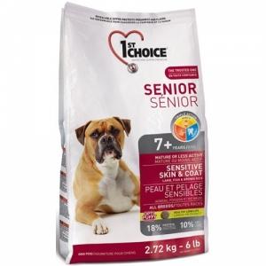 1st Choice Senior для здоровья кожи и шерсти пожилых собак