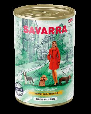 Savarra Adult All Breeds Dog влажный корм для собак с мясом утки, рисом и горохом