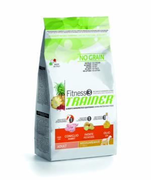 Trainer Fitness3 No Grain Medium & Maxi Adult с кроликом и картофелем