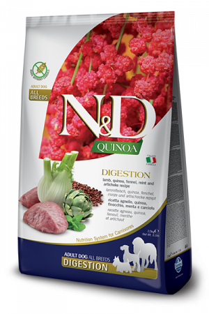 Farmina N&D Quinoa Adult Dog Digestion с ягнёнком, киноа, фенхелем, мятой и артишоком