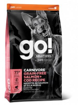 GO! Dog Solutions Carnivore All Life Stages Grain Free с лососем и треской