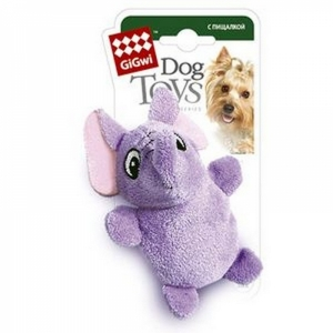 GiGwi игрушка для собак слон с  пишалкой