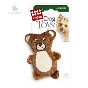 GiGwi игрушка для собак Мишка  с пищалкой