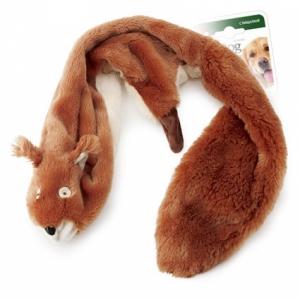 GiGwi игрушка для собак шкурка белки с пищалкой