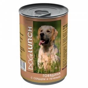 Dog Lunch  говядина с сердцем и печенью в желе
