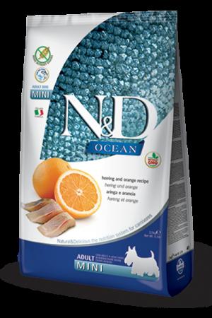 Farmina N&D Ocean Mini Adult Dog с сельдью и апельсином