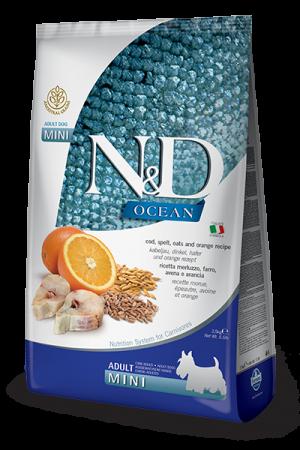 Farmina N&D Ocean Mini Adult Dog с треской, спельтой, овсом и апельсином