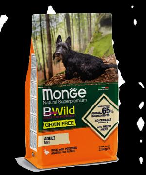 Monge BWild Grain Free Mini Adult Dog Anatra для взрослых собак мелких пород с уткой и картофелем