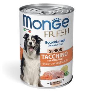 Monge Dog Fresh Chunks in Loaf  мясной рулет индейка с овощами 400г