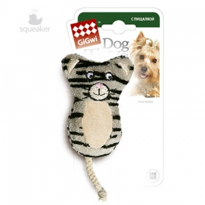 GiGwi игрушка для собак кот с 2-мя писшалками