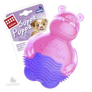 GiGwi Игрушка для собак SUPPA PUPPA Бегемотик спищалкой