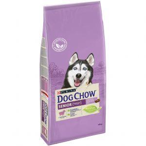Dog Chow Senior для собак старше 9 лет с ягненком