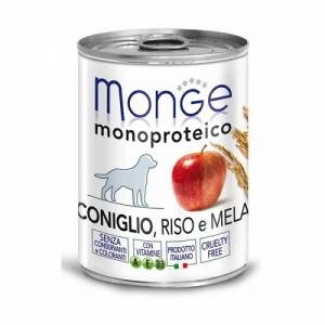 Monge Dog Monoproteico Fruits  паштет из кролика с рисом и яблоками