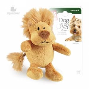 GiGwi игрушка для собак лев с пишалкой