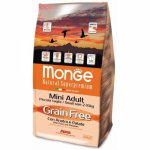 Monge Grain Free Mini Adult  Anatra