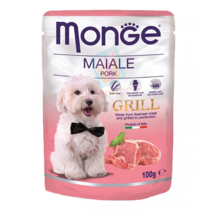 Monge Dog Grill Pouch для собак свинина, 100г