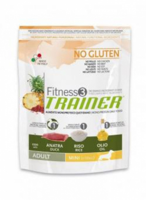 Trainer Fitness3 No Gluten Mini Adult с уткой и рисом