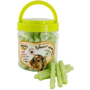 Мнямс лакомство для собак крученые зубные палочки с зеленым чаем