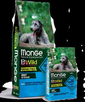 Monge BWild Grain Free All Breeds Adult Acciughe
