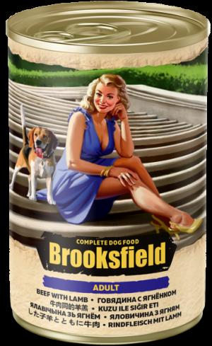 Brooksfield Adult Dog говядина/ягненок/коричневый рис