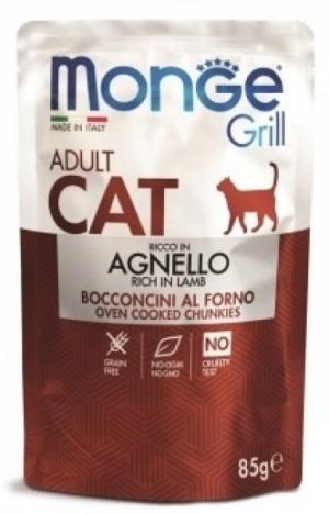 Monge Cat Adult Grill Pouch с новозеландским ягнёнком в желе, 85 гр