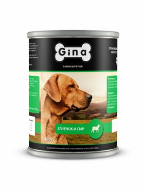 Gina для собак ягненок и сыр