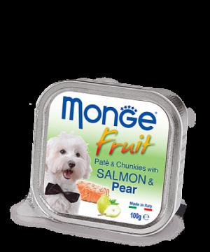 Monge Dog Fruit паштет из лосося с грушей