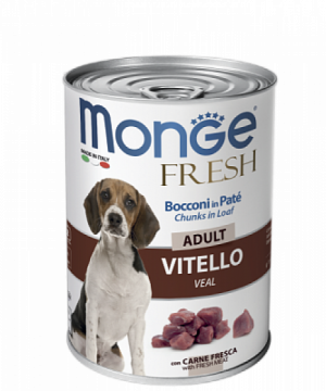 Monge Dog Fresh Мясной рулет с кусочками телятины