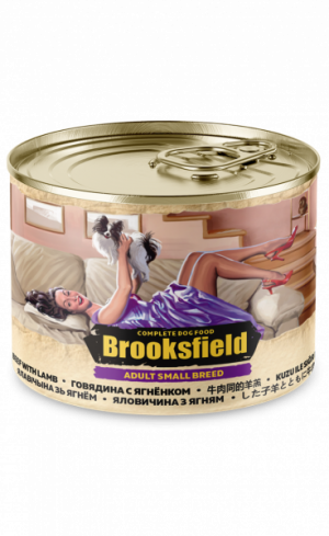 Brooksfield Adult Small Breed Dog говядина/ягненок/коричневый рис