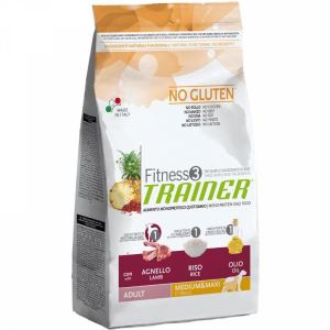 Trainer Fitness3 No Gluten Medium & Maxi Adult с ягнёнком и рисом