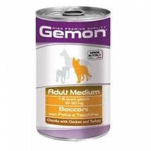 Gemon Dog Medium кусочки курицы с индейкой