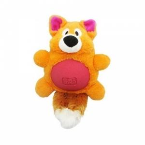 "R2P игрушка для собак Multi-tex ""Лиса"" плюш/резина с пищалкой"