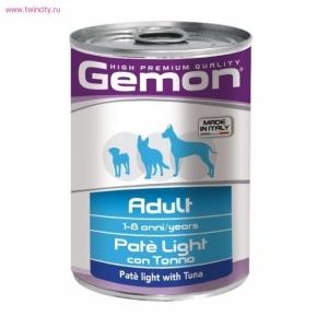 Gemon Dog Light  облегченный паштет тунец