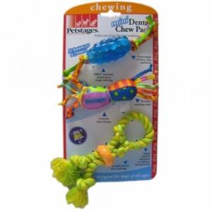 """Petstages набор из трех игрушек для собак мелких пород Mini """"Канат+ОРКА-шишка+игрушка для нежных десен"""