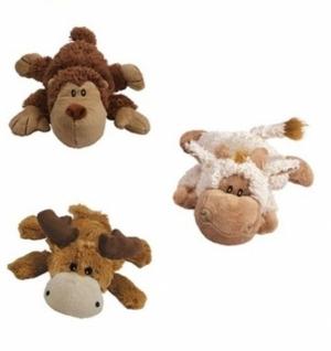"Kong игрушка  ""Кози Натура"" (обезьянка, барашек, лось) плюш, средние 23 см"