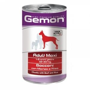 Gemon Dog Maxi  кусочки говядины с рисом