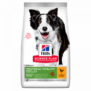 Hills Science Plan Youthful Vitality Medium Breed с курицей