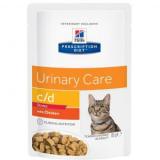 Hills Prescription Diet Feline c/d Urinary Stress с курицей 85г